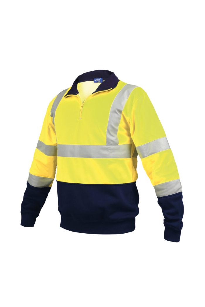 ae2992b584f27a Sweat Col Zippé Shirt Tb Concept Bicolore Montant qSBZwxzq