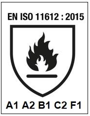 EN ISO 11612 : 2015 A1 A2 B1 C2 F1